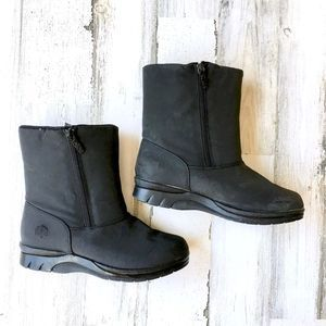 Totes Black Ankle Rosie Winter Boots Sz 9M